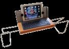Tablethalterung aus Massivholz - handmade in Germany - universal - multifunktional - Universalhalterung Samsung Ipad Smartphone Tablet Surface